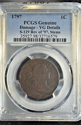 1797 Large Cent!! S-129, R5! Rare! Condition Census? (131)