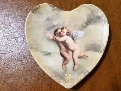 Bradford Exchange decorative plate #6 Heart to Heart collection angels fine art