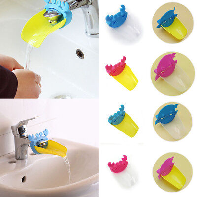 Crab Shape Sink Baby Kid Faucet Washing Hands Bathroom Tap Dolphin Cute Extender