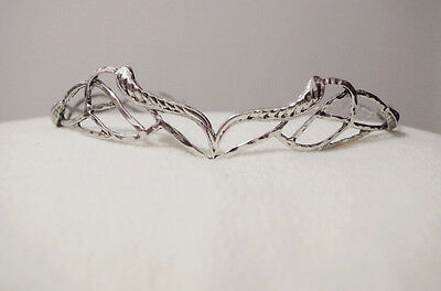 US!SHIP FAST Elven  Leaf Crown Elrond Antique SILVER Lord Of The Rings Gifts