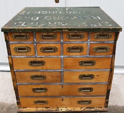 Army Campaign Multi Drawer Chest