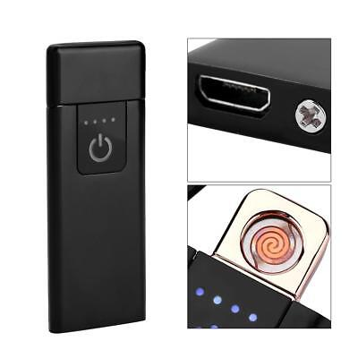 Fingerprint Touch USB Rechargeable Flameless Windproof Plasma Electric Lighter