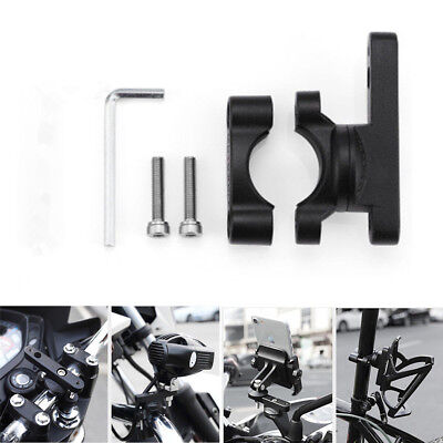 CNC Motorcycle Rotatable Extended Bracket For LED Spotlights Phone Mounts Holder