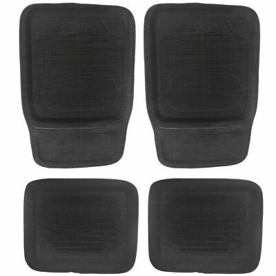 4 Set Universal Car Floor Mats Large Non-Skid Durable Tray Style Front Back