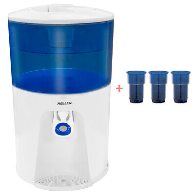 Heller 8.5L Bench Top Water Filter Chiller Cold Cooler + 3 Filter Replacements