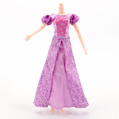 Barbie doll clothes Disney doll Rapunzel princess Toy dress doll clothes gift