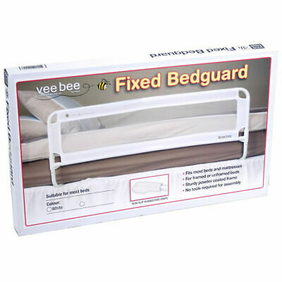 Vee Bee 105cm White Safety Bed Rail Protection for Baby Infant Toddler Cot Guard
