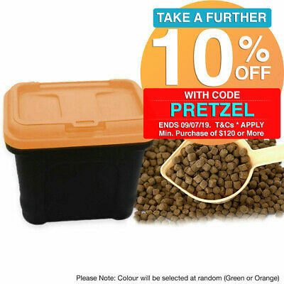 Dog Cat Pet Dry Food Container Storage Box Bucket Airtight Seal Large 41x25x34cm