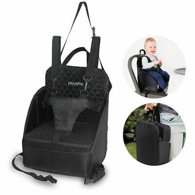 BLK Baby Toddler Portable Foldable High Chair Travel Seat Booster Safety Dining