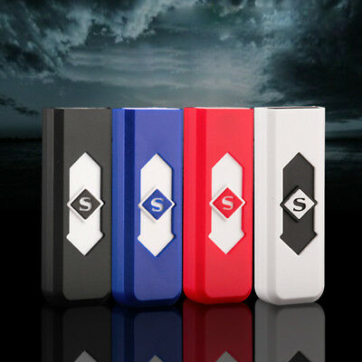 Men Electric Lighter Cigarette Rechargeable Windproof Flameless USB Lighter