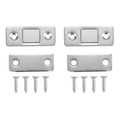 Two Set Strong Magnetic Cabinet Cupboard Ultra Thin Door Catch Latch Lock HS1210