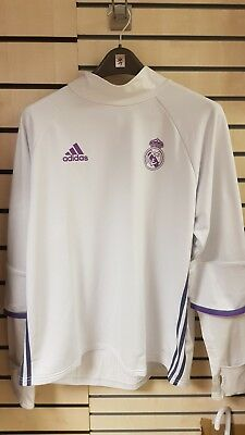 Adidas Real Madrid 2016/17 Long Sleeve Mens Training Top - White size xl