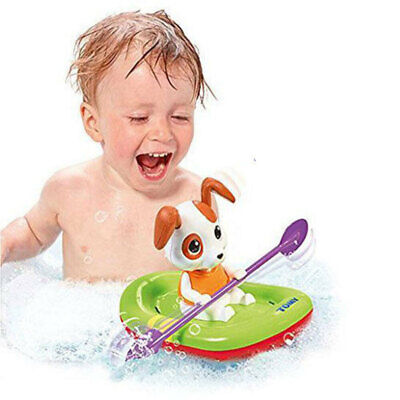 Tomy E72424 Wind Up Puppy Paddling Boat Water Floating Toy Swim Pool Bath Time