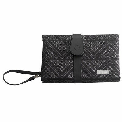 Black Aztec Baby Nappy Diaper Changing Change Clutch Mat Foldable Wallet Bag