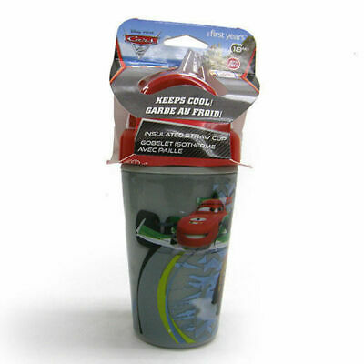 Toddler Child Disney Cars Insulated Straw Cup Sip Sippy BPA Free Drink Bottle