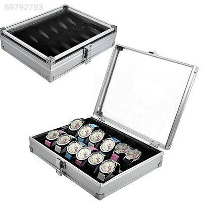 9D14 12 Grid Slots Jewelry Watches Display Collection Box Case Aluminium & Plast