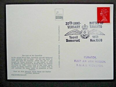 30th Anniversary Battle of Taranto 1970 Event Cover Postcard 4d Machin GB Stamp