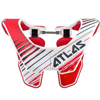 Atlas SALE Air MX Motocross Neck Brace - Tornado Red