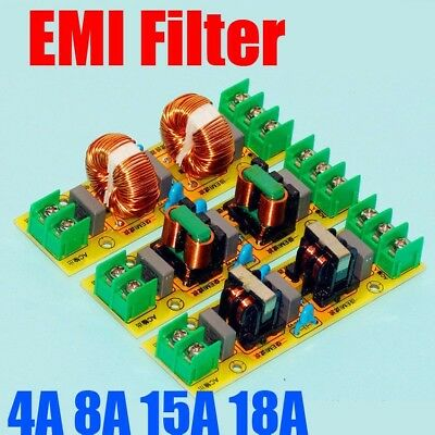 2A 4A 15A 18A EMI High Frequency Power Filter Board Purifier Speaker Amplifier