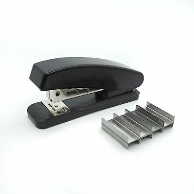 Office Stapler Set With 500 Staples Metal Pins Papers School Office Desk Sheets