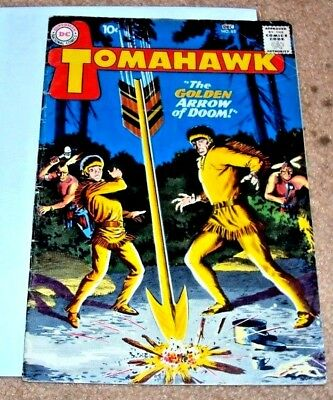 Tomahawk #65 1959 Great Cover Dc Silver Age Western Comic