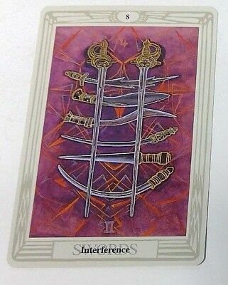 Interference 8 single tarot card Crowley Large Thoth Tarot 1996 AGM Agmuller