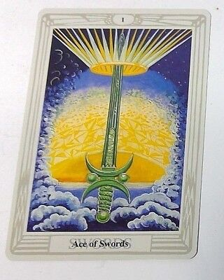 Ace of Swords 1 single tarot card Crowley Large Thoth Tarot 1996 AGM Agmuller