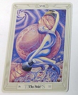 The Star XVII single tarot card Crowley Large Thoth Tarot 1996 AGM Agmuller