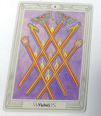 Victory 6 Wands single tarot card Crowley Large Thoth Tarot 1996 AGM Agmuller