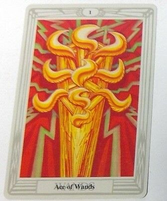 Ace of Wands 1 single tarot card Crowley Large Thoth Tarot 1996 AGM Agmuller