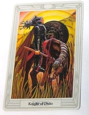 Knight of Disks single tarot card Crowley Large Thoth Tarot 1996 AGM Agmuller