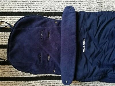 Maclaren Navy Blue Footmuff Cosytoes Pushchair fits pushchairs and buggys fleece