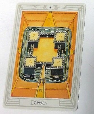 Power 4 Disks single tarot card Crowley Large Thoth Tarot 1996 AGM Agmuller