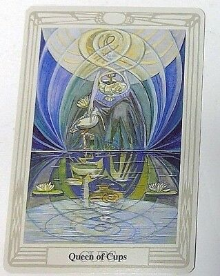 Queen of Cups single tarot card Crowley Large Thoth Tarot 1996 AGM Agmuller