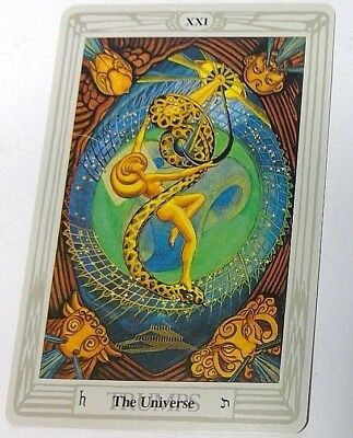 The Universe XXI single tarot card Crowley Large Thoth Tarot 1996 AGM Agmuller