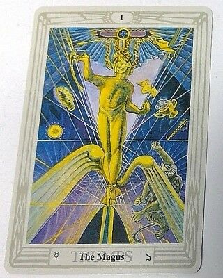The Magus I Trumps single tarot card Crowley Large Thoth Tarot 1996 AGM Agmuller