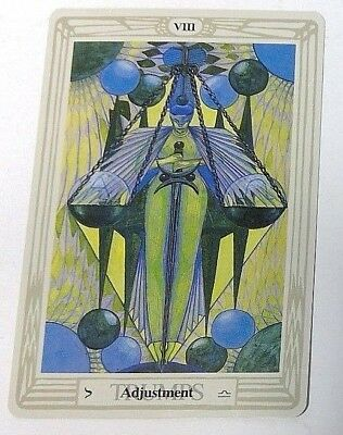 Adjustment VIII single tarot card Crowley Large Thoth Tarot 1996 AGM Agmuller