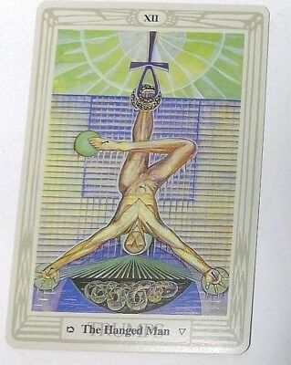 The Hanged Man XII single tarot card Crowley Large Thoth Tarot 1996 AGM Agmuller