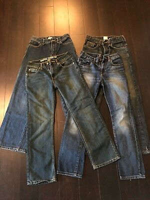Boys Size 12 Jeans Lot Of 4!  Gap Kids, Nautica, And More Great Shape!!!