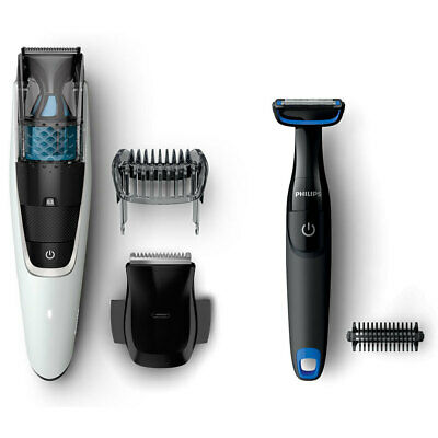 Philips BT7204 Rechargeable Cordless Vacuum Hair Trimmer Precision Body Groomer