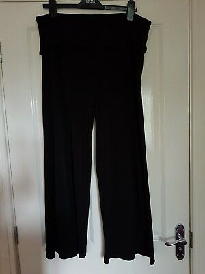 SO COMFY!!! Next black maternity trousers - size 16 short - stretchy, over-bump