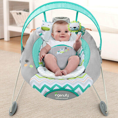 Ingenuity SmartBounce Automatic Bouncer Rocker Timer Ridgedale for Baby Infant