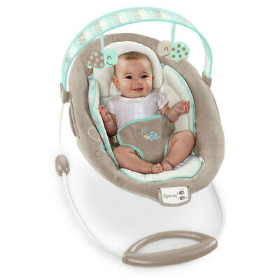 Ingenuity Sampson Vibrating Baby Bouncer Toy Removable Music Bar Vibration