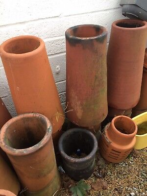 Vintage reclaimed chimney pots Small, Medium And Large Salvage
