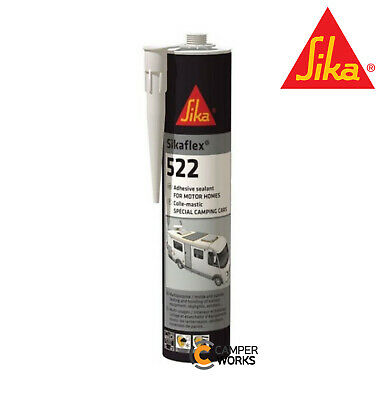 SIKAFLEX 512 WHITE Multi Purpose Adhesive Sealant for Caravan Camper Boat 02/20