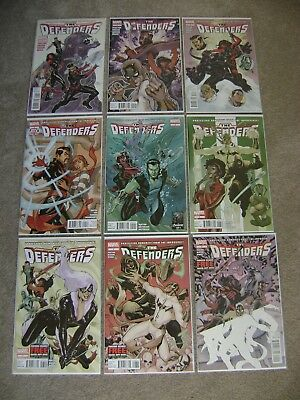 The Defenders #1 2 3 4 5 6 7 8 9 Marvel Comics 2012 Lot Of 9 Boarded Nm To Nm-