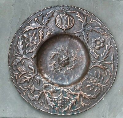 JOHN PEARSON Arts and Crafts Copper charger  C1890