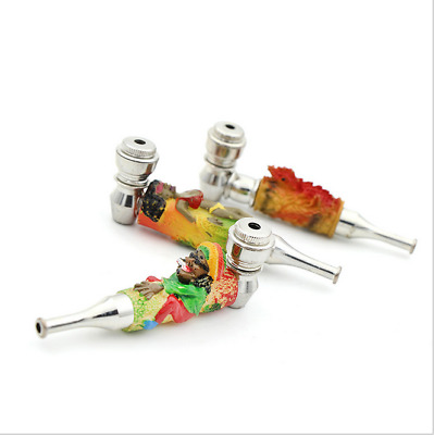 1PC Portable Metal Color Engraving Smoking Pipe Tobacco Herb Filter Pipes New