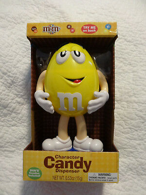 M&M Character Lazy Yellow  Candy Dispenser Collectible Candy Holder New No box