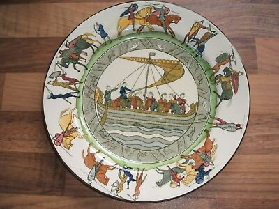 Royal Doulton Series Ware Bayeux Tapestry Battle Of Hastings 1066 D2873 Plate